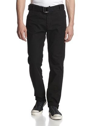 66% OFF X-Ray Men's Belted Flat Front Pants (Black)