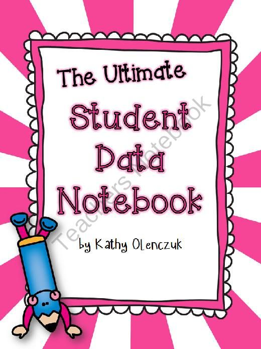Help your students to take responsibility for their own learning with the ultimate data notebook!!