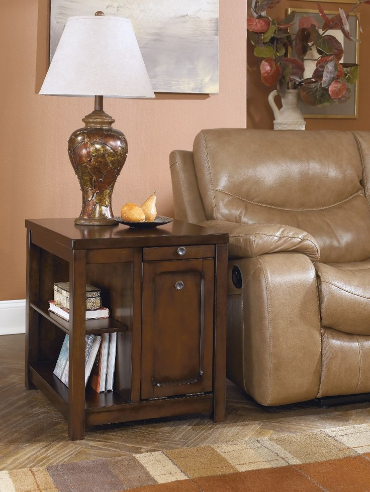 signature design kayden med brown finish rect end table t5483 living room