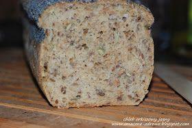 """Po chlebie orkiszowym  pełnoziarnistym , który piekłam poprzednio przyszła kolej na następny """"eksperyment"""". Tym razem na chleb z mąki ..."""