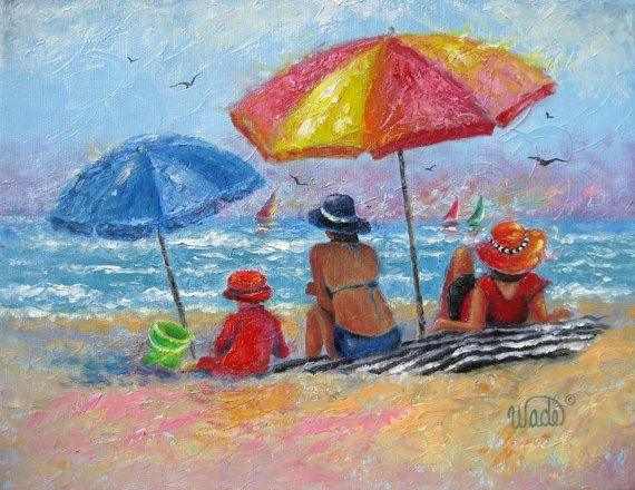 At the Beach2 original oil painting by Vickie Wade Fine Art on ETSY $85 11x14