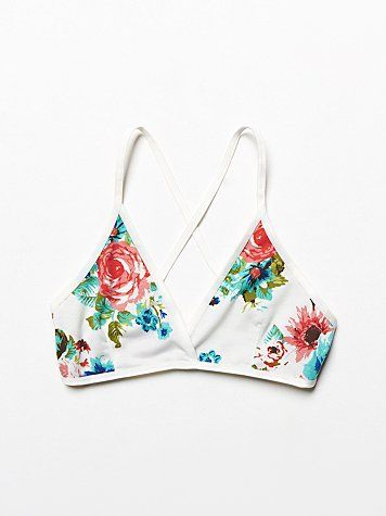 free people floral bra