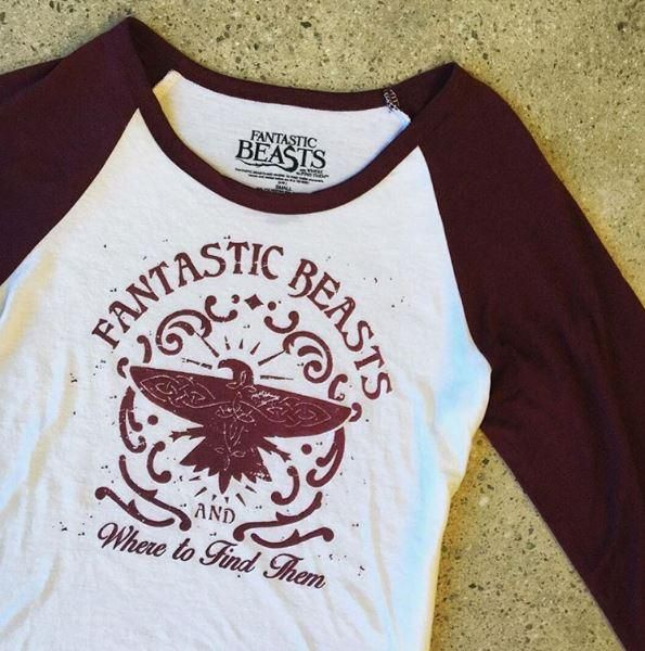 Feel Fantastic // Fantastic Beasts And Where To Find Them Logo Girls Raglan