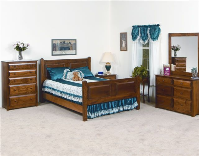 Sweet dreams await in our beautifully handcrafted Heritage Pine Bedroom Set.