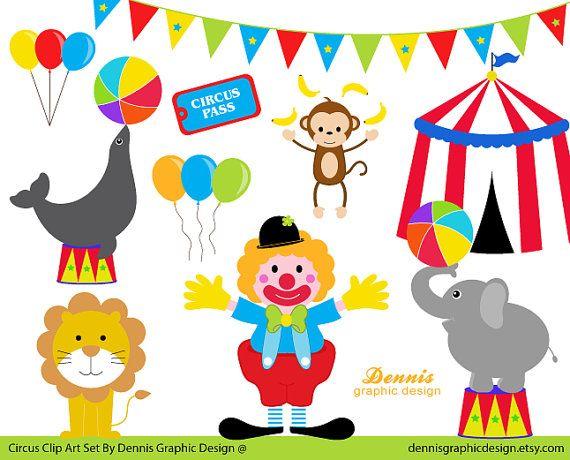 Zirkus Clipart Set Von Dennisgraphicdesign Auf Etsy Fasching Clipart Clipart Grusskarten