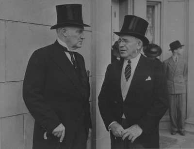 Hamar Greenwood and R.S. McLaughlin at Parkwood, Oshawa, September 4, 1938
