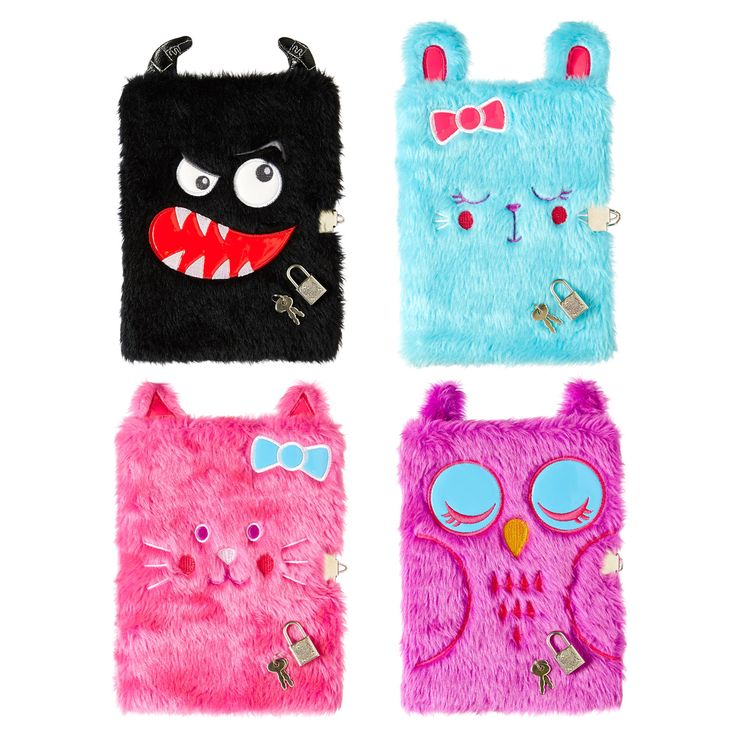 Image For A5 Lockable Fluffy Note Book From Smiggle Cute