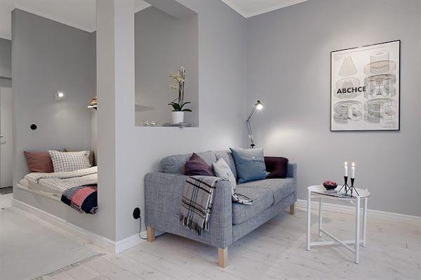 Peque o piso en blanco y neutros casa decoraci n de unas peque as habitaciones de lavadero Guardar bici en piso pequeno