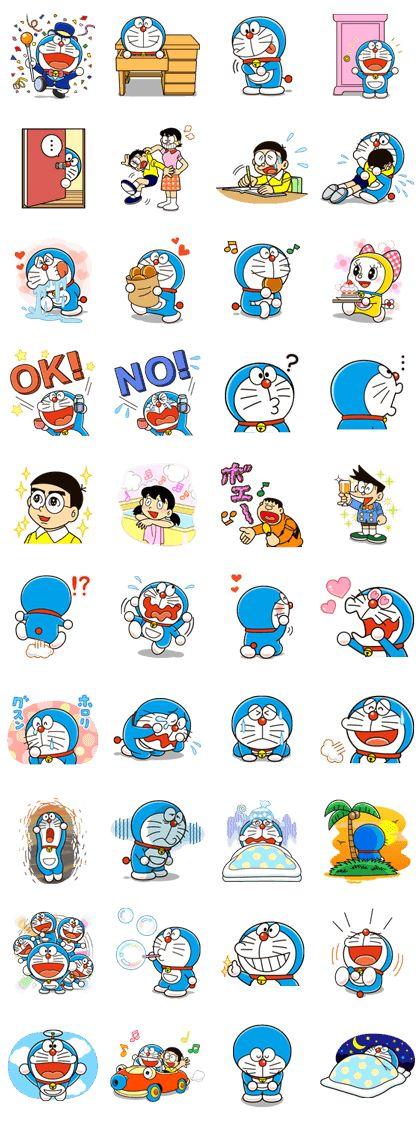Doraemon LINE stickers LINE STORE Doraemon cartoon