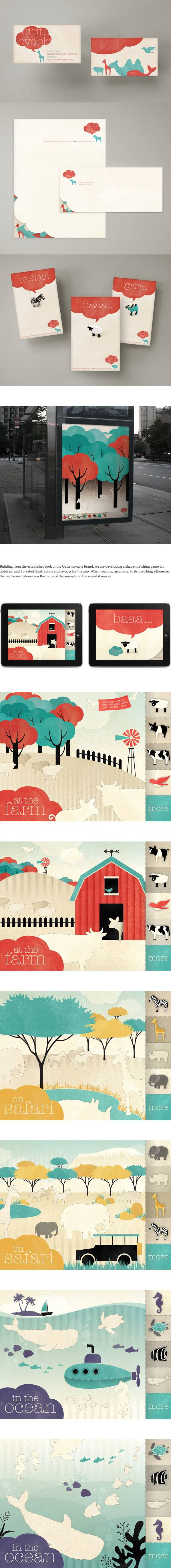 Absolutely loving this fun and colorful simple illustration and all the many applications.  At the farm. #identity #packaging #branding PD