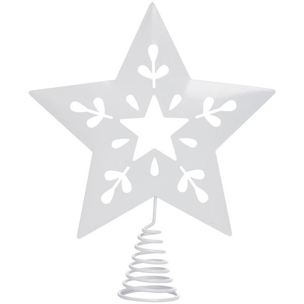 Wilko Christmas Tree Topper White Star Nordic Winterland ($2.42) ❤ liked on Polyvore featuring home, home decor, holiday decorations, red tree topper, inspirational home decor, red christmas tree ornaments, christmas tree ornaments and red home decor