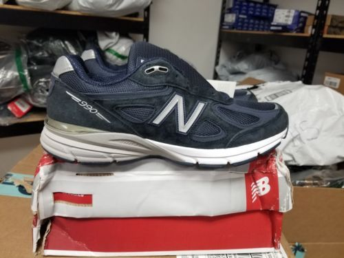 New Balance 990v4 USA Made Navy Gray Mens m990XG4 NWT