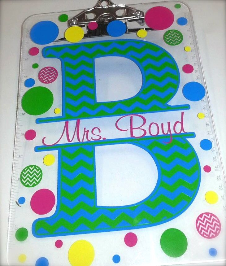 Personalized Clipboard-great for teachers! by CrystalsCreations98 on Etsy https://www.etsy.com/listing/198438574/personalized-clipboard-great-for