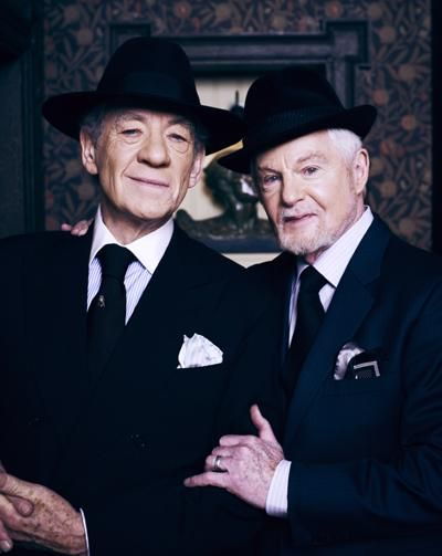 "Sir Ian McKellen and Derek Jacobi, lovers for over 50 years, now appearing together in a ""Britcom,"" ""Vicious,"" beginning this Sunday on PBS in the United States."