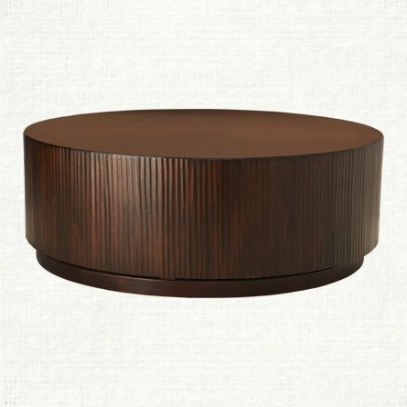 View The Valeta Brown Coffee Table From Arhaus With Its Distinctive Drum Style Silhouette