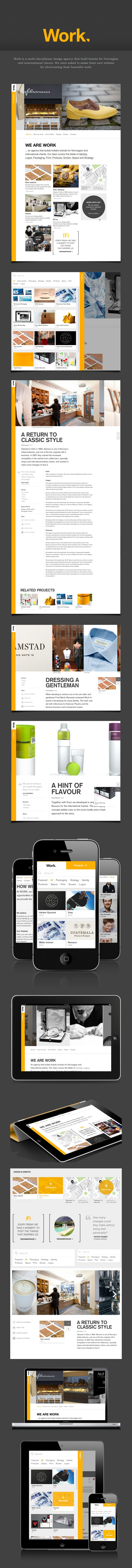 Work agency site / Unfold