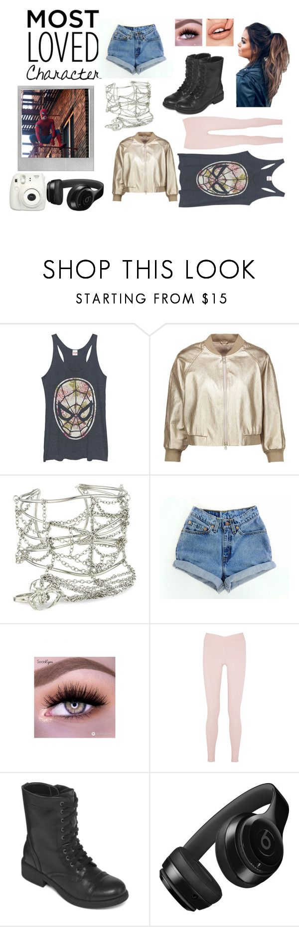 """""""Peter Parker~Themed Set"""" by x-emily-herondale-x ❤ liked on Polyvore featuring Marvel, Brunello Cucinelli, Marvel Comics, Live the Process, Arizona, Beats by Dr. Dre, Polaroid and Fujifilm"""