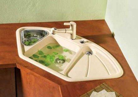 Farmhouse Sink Corner : Farmhouse Corner Kitchen Sink Kitchen Sinks Pinterest