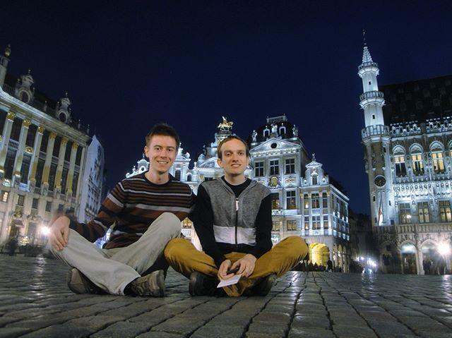 Sitting in the Grand-Place in Brussels Belgium (2014) #tbt . . #throwbackthursday #grotemarkt #grandplacebrussels #brussels #travelbelgium #bruxelles #sightseeing #cityarchitecture #nightlights #citywalk #citytour #cityatnight #nightwalk #igerscz #wanderlusters #travellove #travelholic #gaytravel #gaytraveler #gaycation #gaylife #gayinsta #gaystagram #husbands #gaycouple #czechgay #adventurelife #discoverglobe #wearetravelgays
