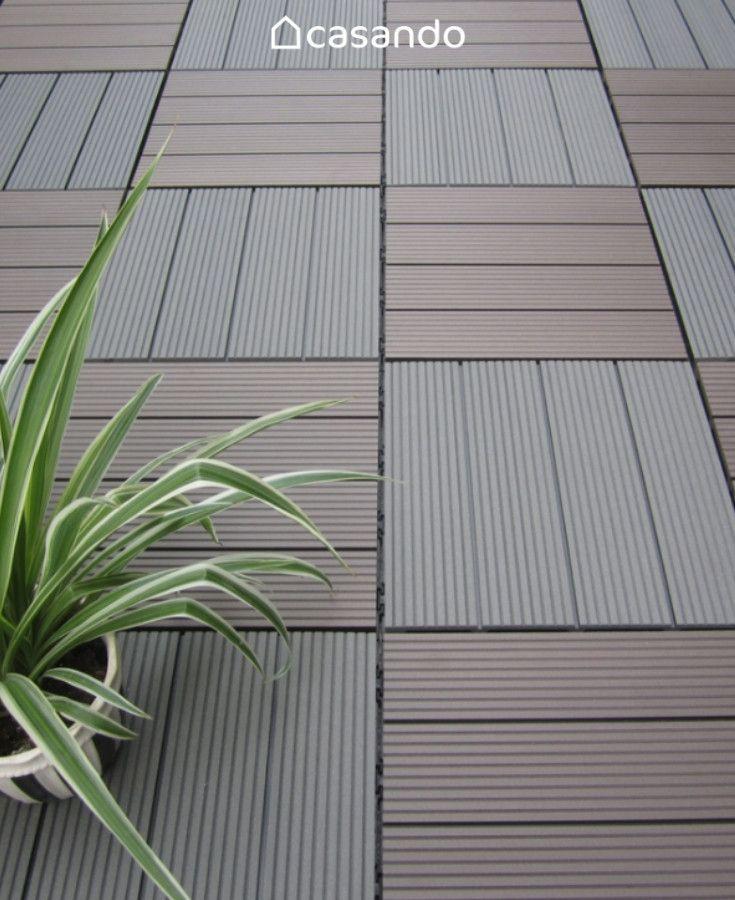 Hori Klickfliesen Wpc 5 Dielen Holzoptik Terrasse Balkon