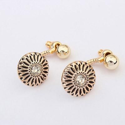 podotukushop_0A5BEB Anting Korea anting impor flower shape decorated simple design
