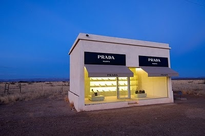 Prada pop up store in Marfa, Texas. Very cool.