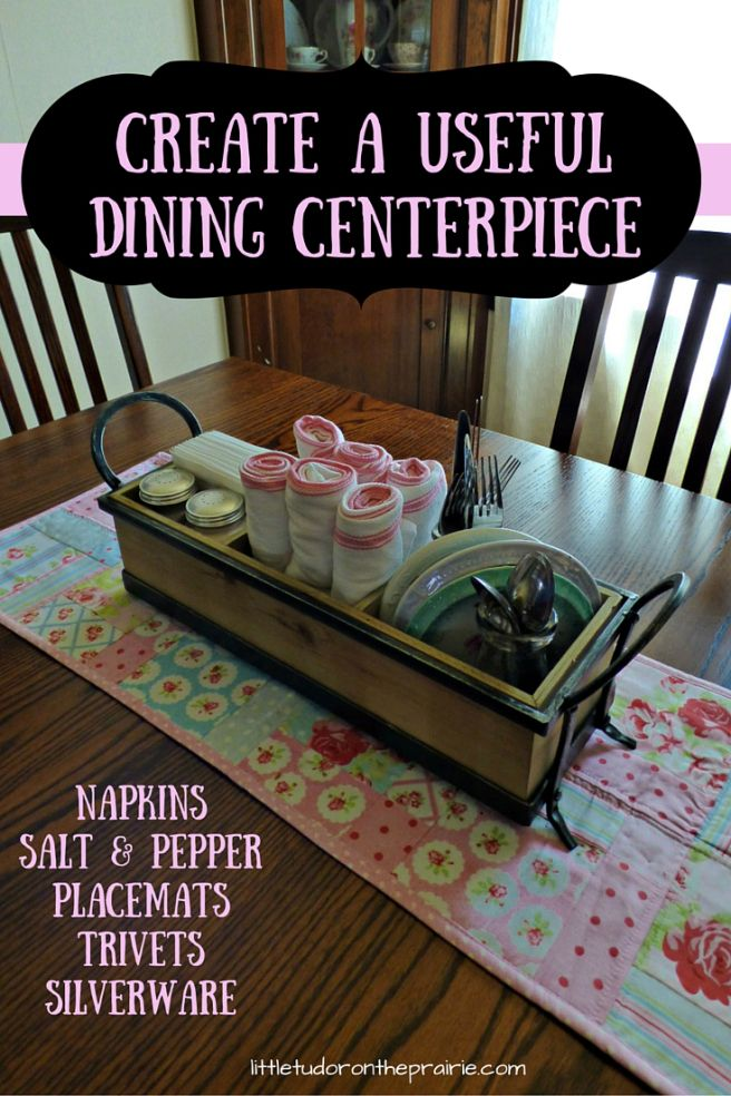 Create a practical dining centerpiece for everyday dining. Suggestions for an appropriate container and measurements are included.