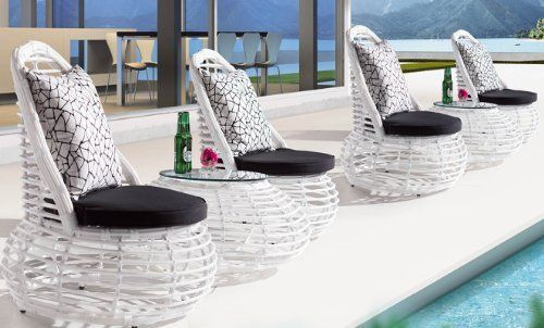 The Maldives Collection All Weather Wicker Patio Furniture Club Chair Group . $3570.00
