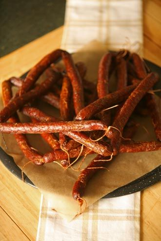 Cured and Smoked Snack Sticks... Venison