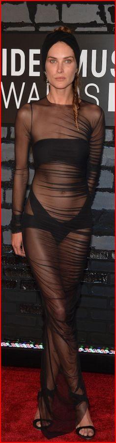 Erin Wasson. Супермодель Эрин Уоссон совершенно не волнует, что о ее провокативном наряде думают окружающие – на церемони MTV Video Music Awards-2013