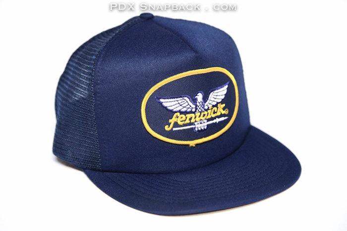 Fenwick eagle snapback navy blue mesh dope hat gallery for Fishing snapback hats
