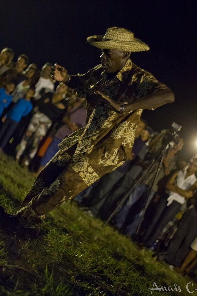 Gwoka dancer in Guadeloupe islands