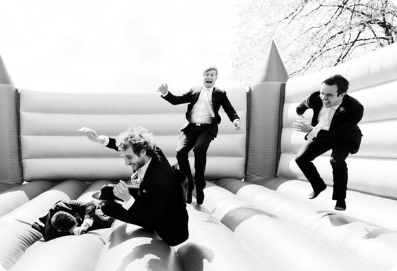 Bouncy castle wedding fun. sad to say this but this is right up my alley.  www.586eventgroup.com