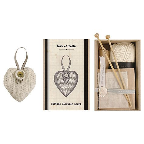 Buy East of India Knit Your Own Lavender Heart Kit Online at johnlewis.com