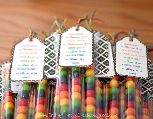 Finding Time to Create: Girls Camp Pillow Treats: Candy Tubes