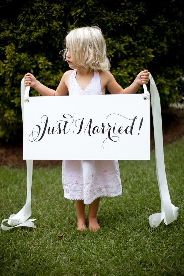 Classic Just Married Getaway Sign - for car. waterproof. $65.00, via Etsy.