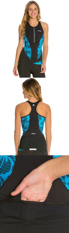 Triathlon 2918: Zoot Sports Women S Ultra Tri Tank, Small, Malibu Island -> BUY IT NOW ONLY: $59.25 on eBay!