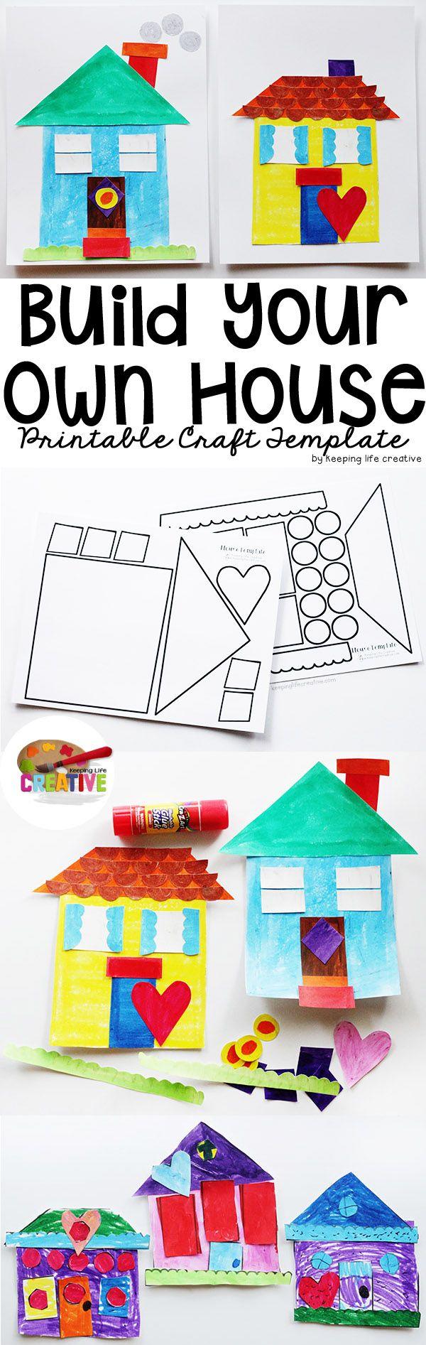 • Bouw je eigen huisje: knippen en plakken •