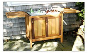 Storage Buffet Cabinets Cedar Patio Outdoor Teak Storage