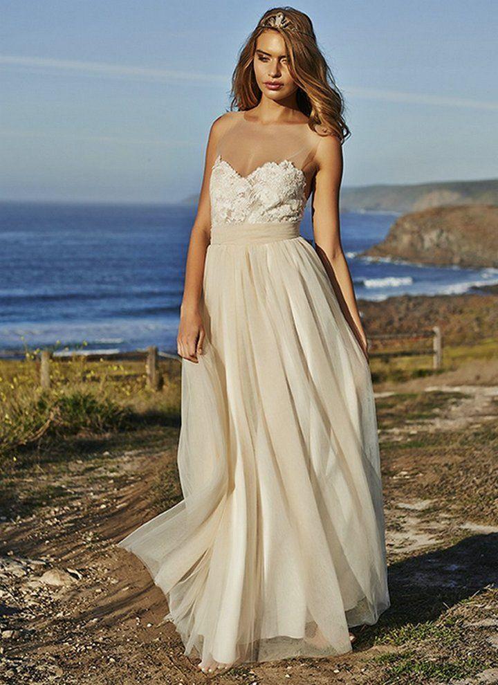 48 best Color Wedding Dresses images on Pinterest   Short wedding ...