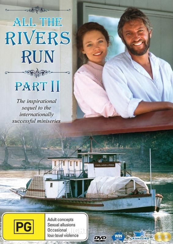 All The Rivers Run Part II DVD -1990 TV minseries starring John Waters, Nikki Coghill and Parker Stevenson. Borrow it from Wagga Wagga City Library.