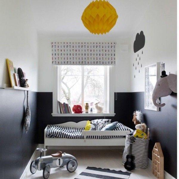 62 best images about chambre enfant on pinterest coins - Chambre blanc et noir ...