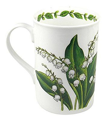 Crown Trent English Floral Lily of the Valley Fine Bone China Mug