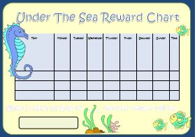 Under the Sea Reward Chart - Kids Puzzles and Games