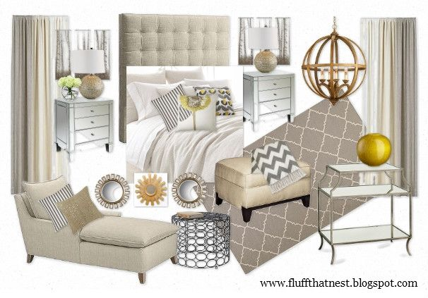 moodboard: soft and sophisticated bedroom