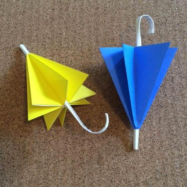 折り紙の傘の折り方!梅雨の室内遊びで作ってみよう♪   イクメン主夫の役立つブログ