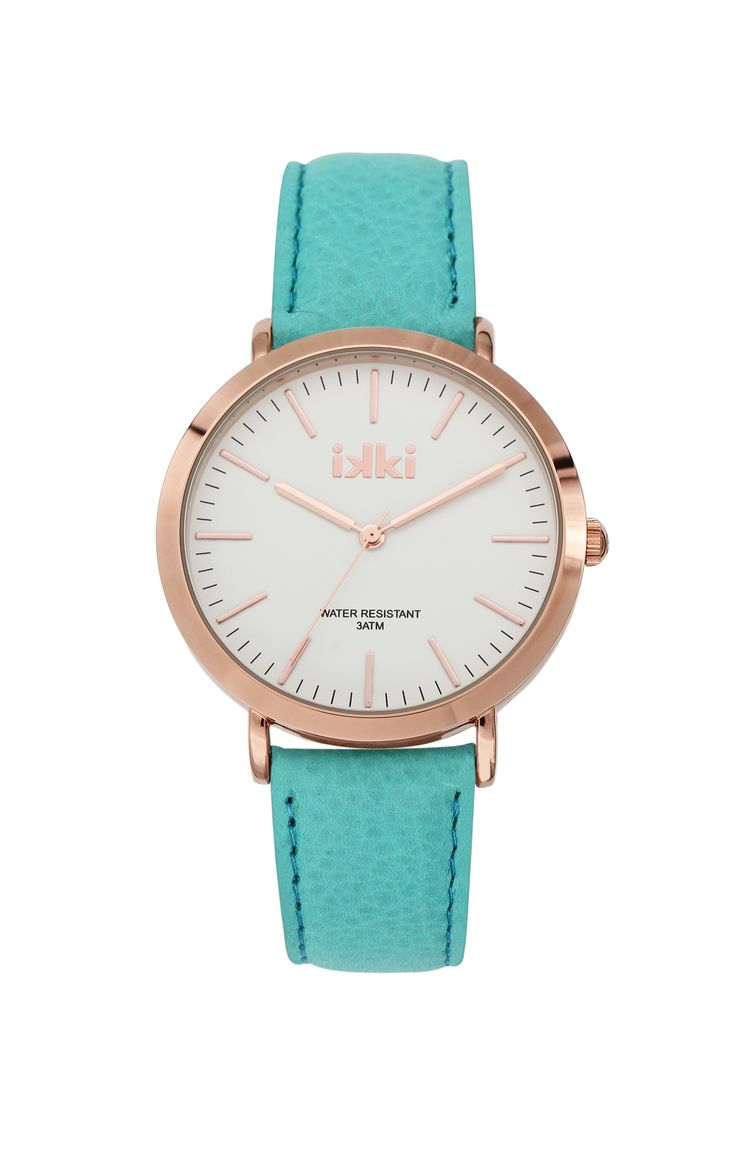 blue, aqua, summer colours, gold, white, watch, horloge ikki Fashion, ikki style, gold, blauw