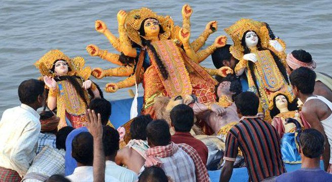 Kolkata: The state BJP and RSS on Thursday came down on the West Bengal government for deciding not to allow immersion of Durga idols on the day of Muharram on October 1 and described the decision as 'unconstitutional' and an insult to the Hindu community. Chief Minister Mamata Banerjee on...