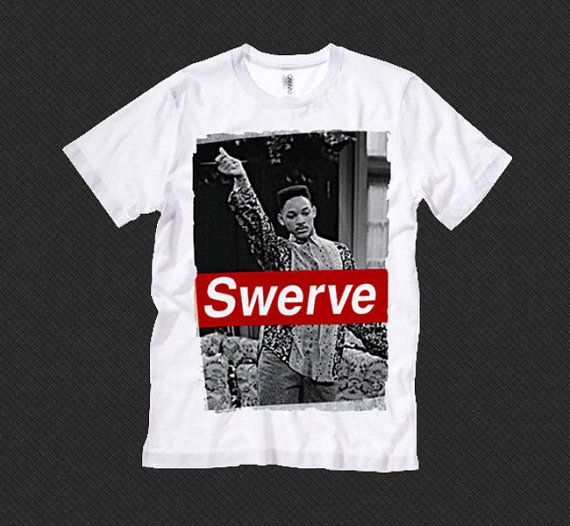 Fresh Prince of Bel Air Swerve Graphic Designed Tee T-Shirt Unisex Women Men Shirt Punk 1990's Fresh Will Smith