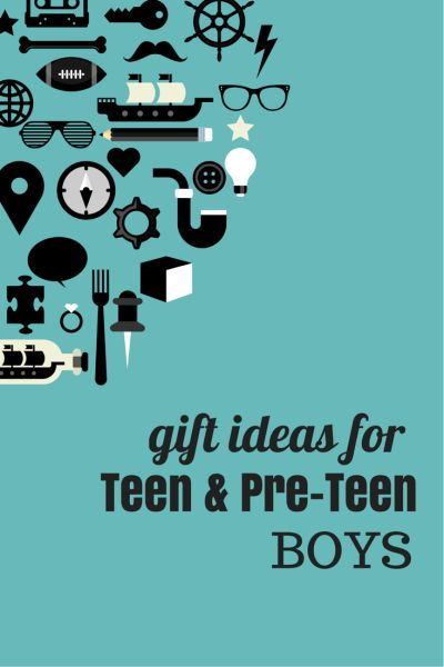 Gift ideas for teen and pre-teen boys for birthdays and holidays  Teen and pre-teen boys are so hard to buy for. They're not into toys anymore but not yet old enough for adult gifts. Here are some gift ideas that have worked for my son over the years.